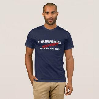 Feuerwerks-Experte, wenn ich laufe, lassen Sie T-Shirt