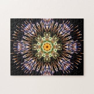 Feuerwerks-Mandala Puzzle