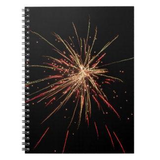 Feuerwerks-Notizbuch Notizblock