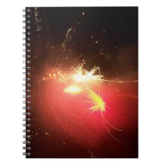 Feuerwerks-Notizbuch Spiral Notizblock