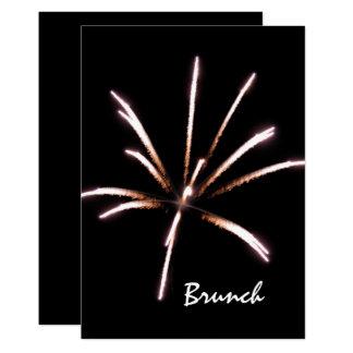 Feuerwerks-Posten-Hochzeits-Brunch-Einladung Karte