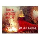 Feversong schöne Monster-Postkarte Postkarte