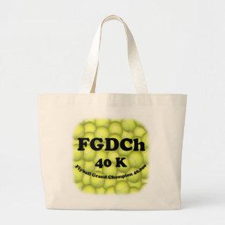 FGDCh 40K, Flyball Vorlagentunnel-bohrwagenTasche Jumbo Stoffbeutel