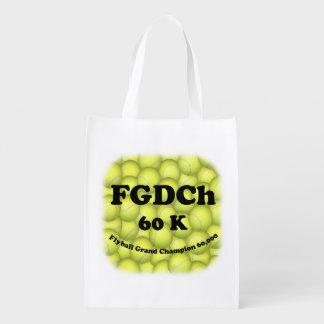 FGDCh 60K, Flyball großartiger Champion, 60.000 Wiederverwendbare Einkaufstasche
