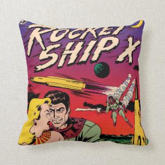 FI-Comic-Bucheinband Rocket-Schiffs-X Vintager Sci Kissen