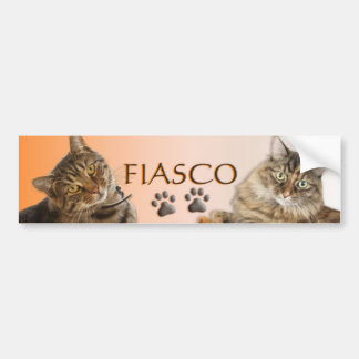 Fiasko-Katzen-Stoßaufkleber Autoaufkleber