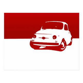 Fiat 500, 1959 - Rot auf Licht Postkarte