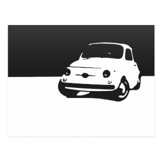 Fiat 500, 1959 - schwärzen Sie auf Licht Postkarte
