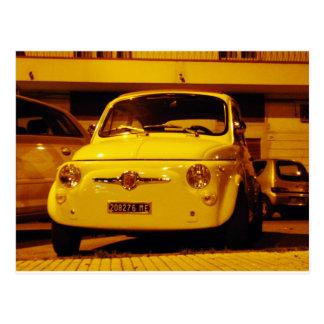 Fiat 500 Abarth. Postkarte