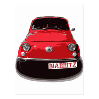Fiat 500 Biarritz Postkarte