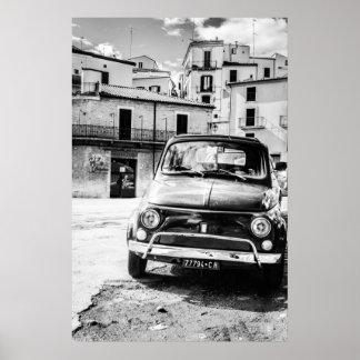 Fiat 500, cinquecento in Italien, klassisches Poster