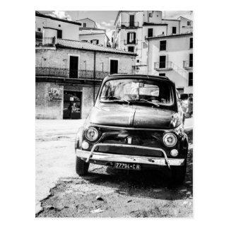 Fiat 500, cinquecento in Italien, klassisches Postkarte