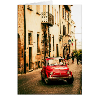 Fiat 500 Cinquecento in Umbrien, Italien Karte