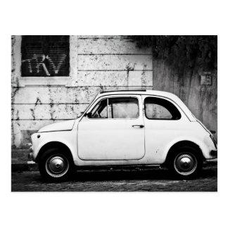 Fiat 500 in Rom, Italien Postkarte