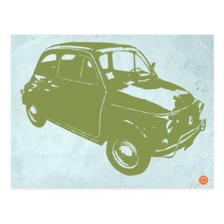 Fiat 500 postkarte