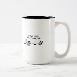 Fiat 500 Topolino Zweifarbige Tasse