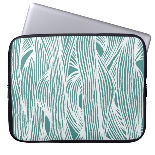 Fiber lines laptop sleeve