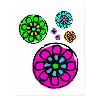 Fibonacci-Blumen-Power Postkarte