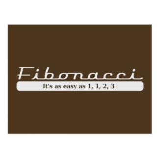 Fibonacci… Es ist so einfach wie 1, 1, 2, 3 Postkarte