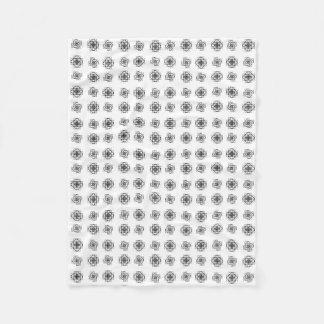 Fibonacci Flowers Pattern Blanket Fleecedecke