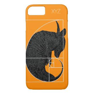 """""""Fibonacci-Gürteltier"""" iPhone 7 Fall: Goldenes iPhone 8/7 Hülle"""