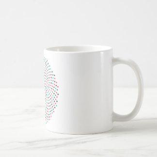 Fibonacci-Sonnenblume-Spirale - Melone Kaffeetasse