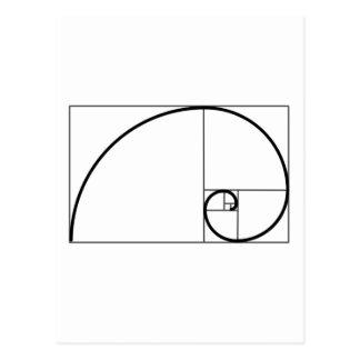 Fibonacci-Verhältnis Postkarte
