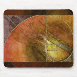 Fibonacci-Violine abstrakte 2 Mousepads