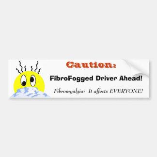 FibroFogged Fahrer Autoaufkleber