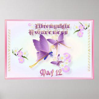 Fibromyalgia-Bewusstsein Poster