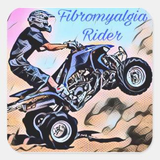 Fibromyalgia-Reiter-Aufkleber Quadratischer Aufkleber
