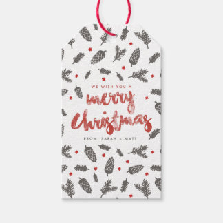 Fichte-und Kiefern-Weihnachten Geschenkanhänger