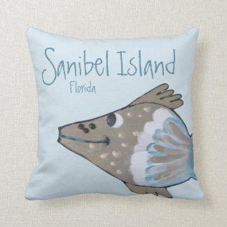 Fido entzückende Fisch-Kunst Sanibel Insel Kissen