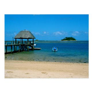 Fidschi - Paradies gefunden auf Malolo Insel Postkarte