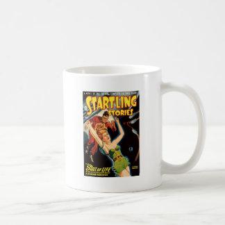 Fiel aus einem Raumschiff heraus Kaffeetasse
