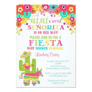 Fiesta-Baby-Dusche Invitation~ Piñata und Blumen 12,7 X 17,8 Cm Einladungskarte