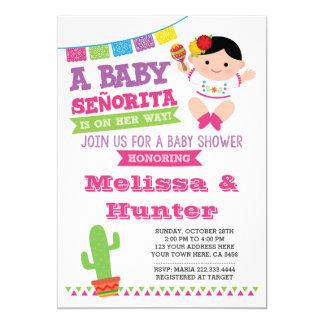 Fiesta-Babyparty, BabySenorita Invite Karte