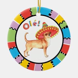Fiesta-Chihuahua Keramik Ornament