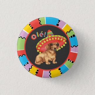 Fiesta-Dackel Runder Button 3,2 Cm