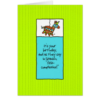 Fiesta-Geburtstags-Karte Karte