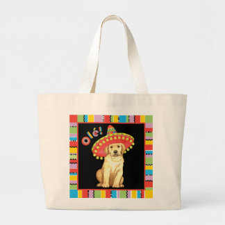 Fiesta-gelber Labrador Jumbo Stoffbeutel