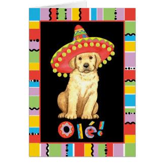 Fiesta-gelber Labrador Karte