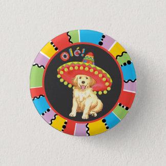 Fiesta-golden retriever runder button 2,5 cm