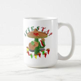 Fiesta-Kaktus mit Gitarren-u. Kaffeetasse