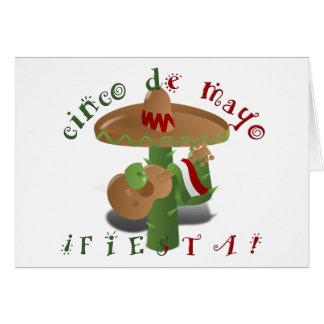 Fiesta-Kaktus mit Gitarren-u. Karte