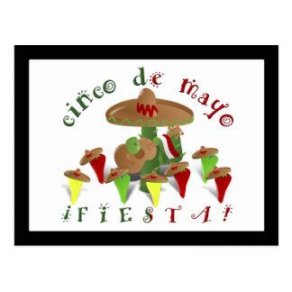 Fiesta-Kaktus mit Gitarren-u. Postkarte