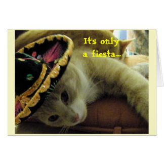 Fiesta-Katze Karte