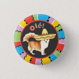 Fiesta-lange Mantel-Chihuahua Runder Button 3,2 Cm