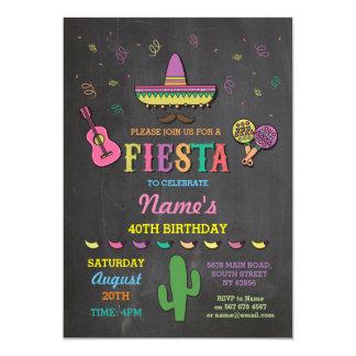 Fiesta-mexikanischer Hut-Mexiko-Geburtstags-Party Karte