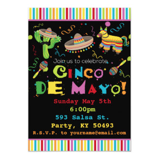 Fiesta-Party Einladung Cinco Des Mayo